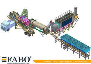 new FABO Installation of asphalt of any capacity mobile and fixed. asphalt plant