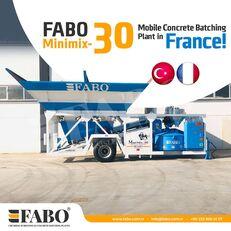 new FABO MINIMIX-30M3/H MINI CENTRALE A BETON MOBILE concrete plant
