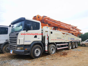 Zoomlion 63m X-6RZ 2013 on chassis SCANIA G470CB 10X4 ZOOMLION boom truck concrete pump