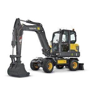 new VOLVO EW 60 E MIETE RENTAL wheel excavator