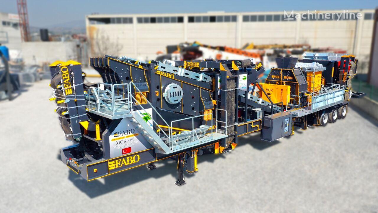 new FABO MCK-60 MOBILNAYa DROBILNO-SORTIROVOChNAYa USTANOVKA  mobile crushing plant
