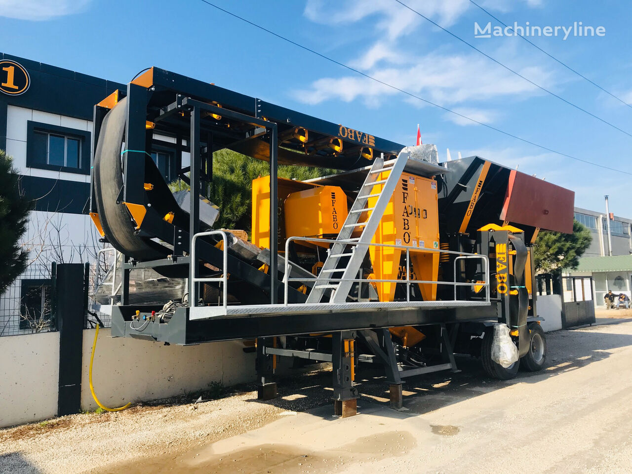 new FABO MJK-90 SERIES 100-200 TPH MOBILE JAW CRUSHER PLANT mobile crushing plant